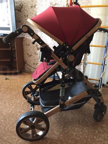 Стильная коляска 2в1 от Belecoo 🤗 Выбор современных мам.  Куплена в феврале 2017 г. Катали только дома.